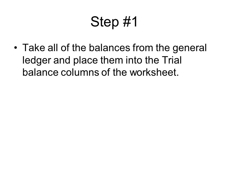Preparing a worksheet Chapter 6 Section 1 What is the worksheet – Step 1 Worksheet