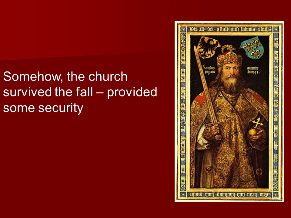 Somehow, the church survived the fall – provided some security