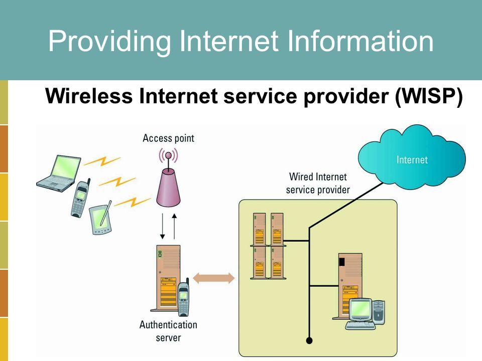 14-19 Providing Internet Information Wireless Internet service provider (WISP)