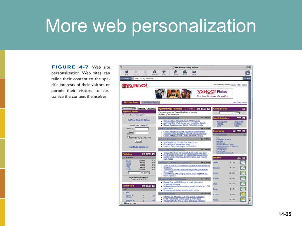 14-25 More web personalization