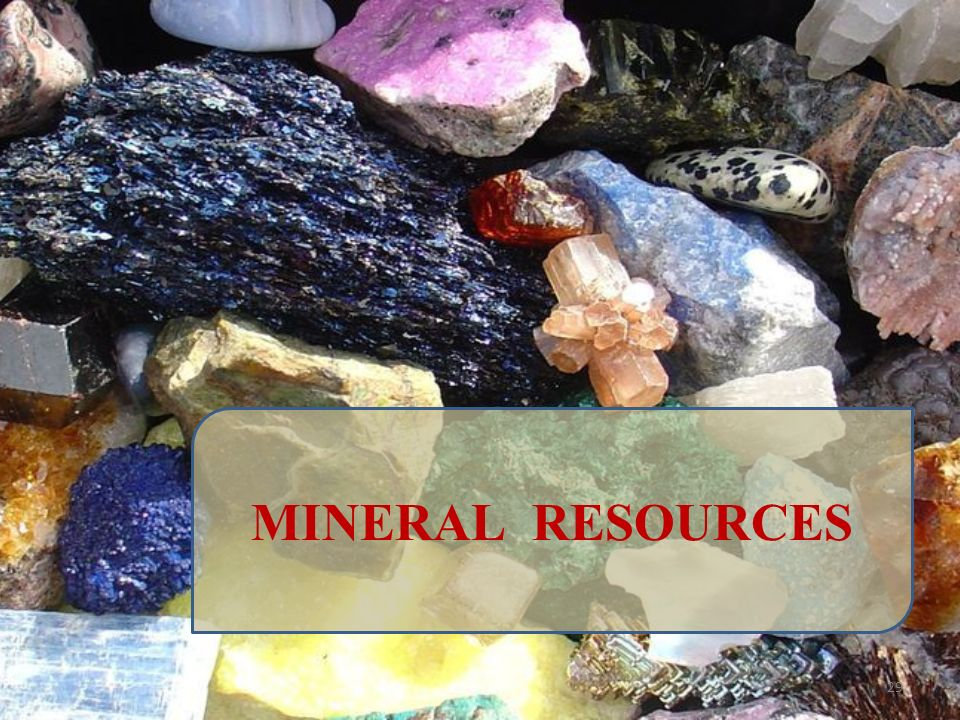 MINERAL RESOURCES 29