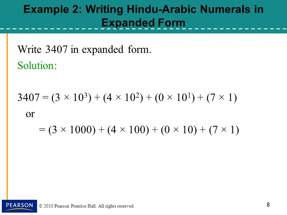 2010 Pearson Prentice Hall. All rights reserved. CHAPTER 4 Number ...