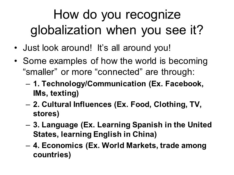 Globalization and Global Regions - ppt download