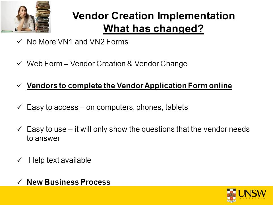 Vendor Creation Implementation Finance Led Training Sessions  Ppt
