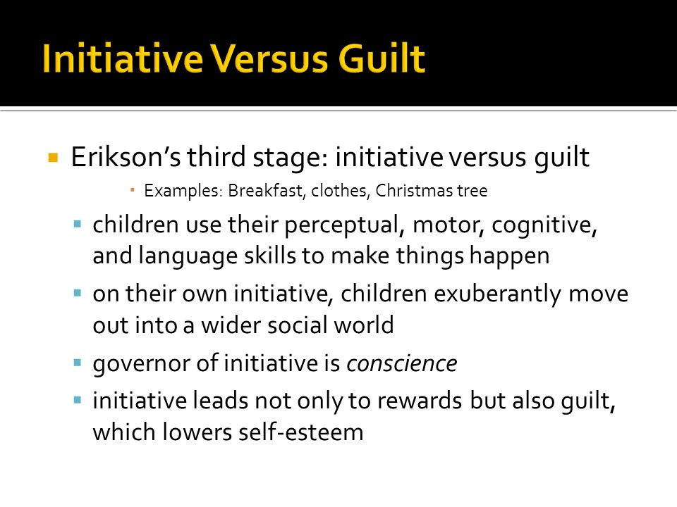 Initiative Vs Guilt