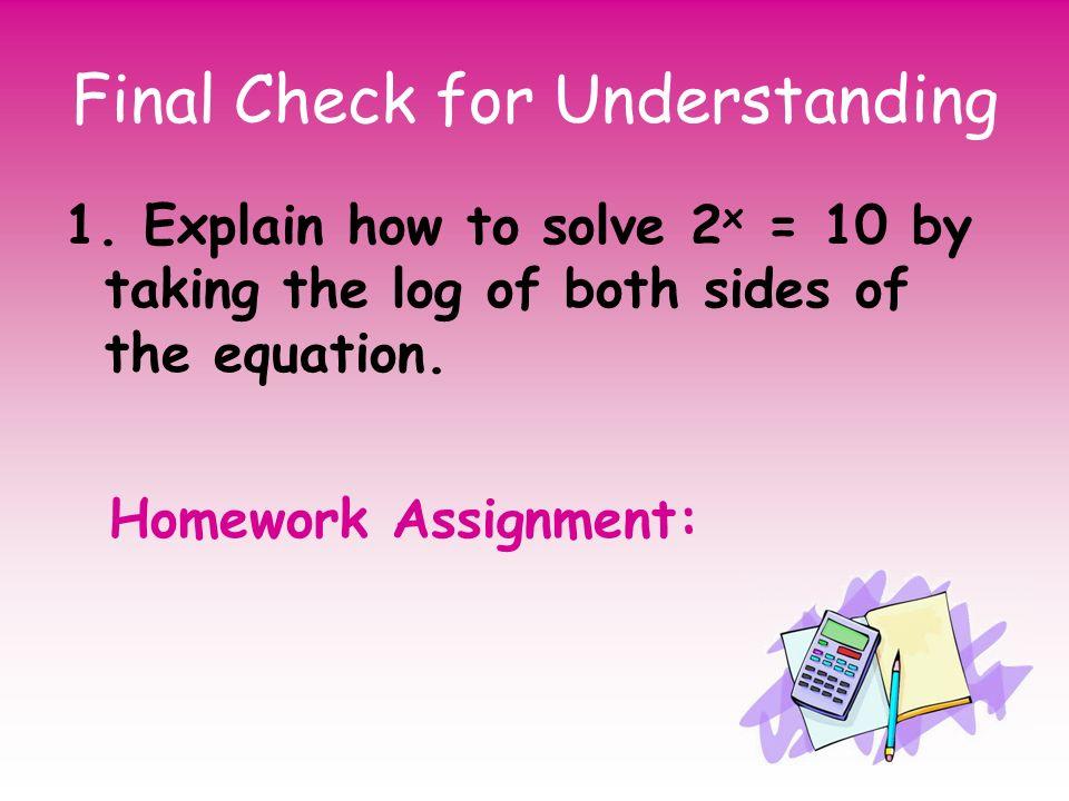 Logarithm Homework Help The calculus i notes/tutorial assume that you've got a working knowledge of algebra and trig. kraeuterhandwerk at