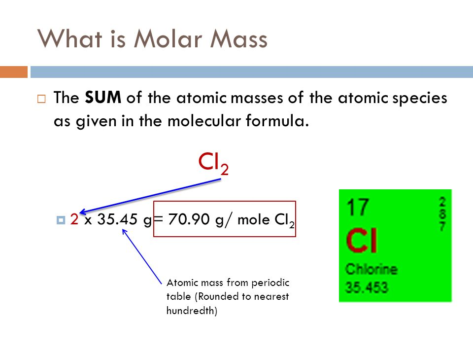 Molar mass what is molar mass the sum of the atomic masses of periodic table rounded to nearest hundredth what is molar mass the sum of the atomic masses of the atomic species as urtaz Gallery