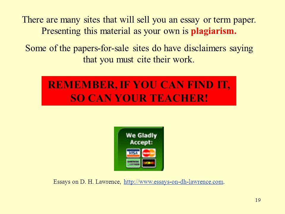 Essay Sale