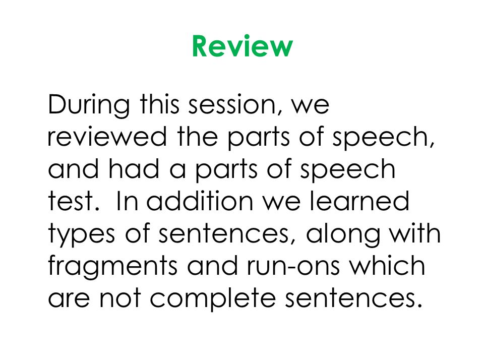 English Language Arts Level 7 6 Ms Walker Assessment Parts of – Parts of Speech Review Worksheets