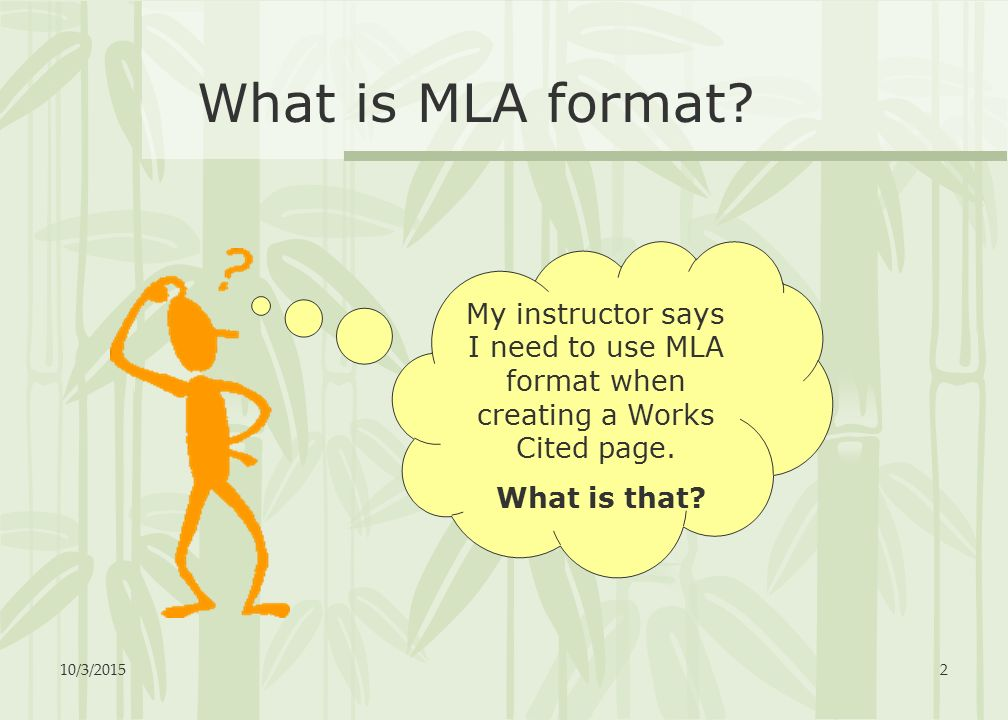what is mla format for works cited
