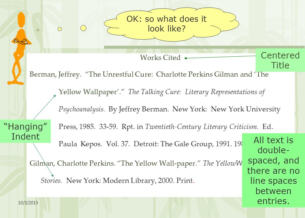 The Printed PDF Version Of LitChart On Yellow Wallpaper Goodreads