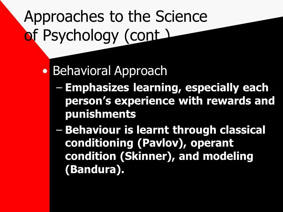 behavioral approach