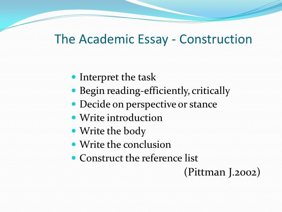 Essay Construction