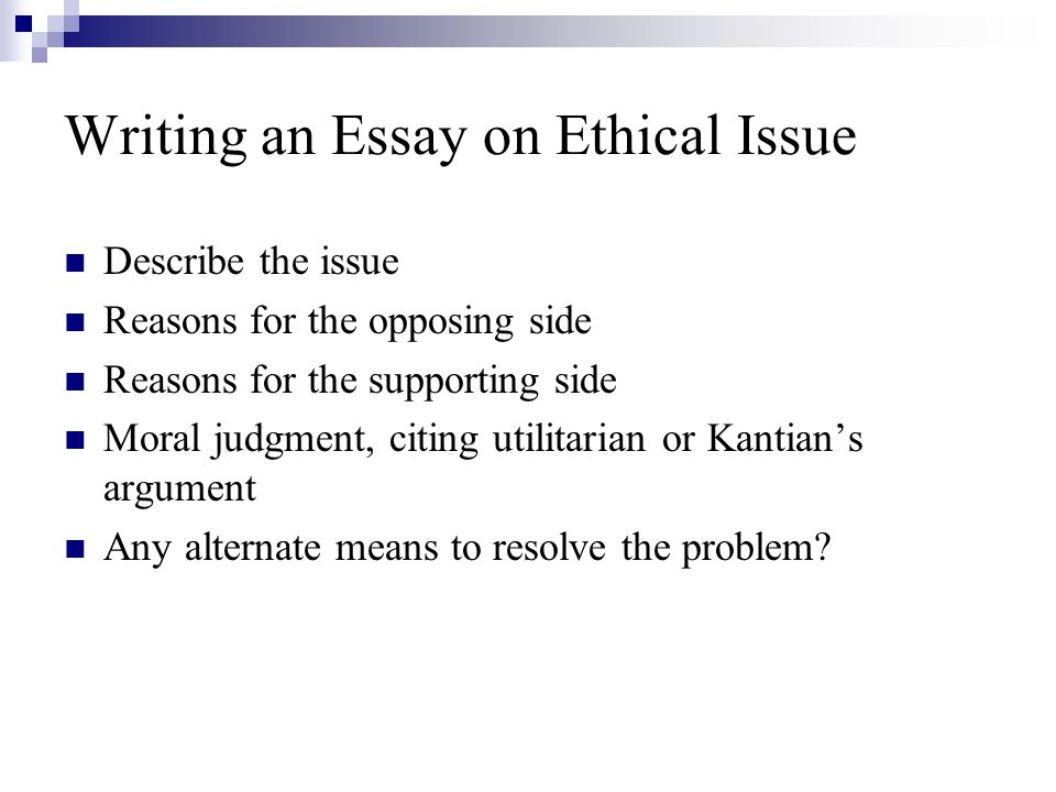 ethical issues 7 essay Throughout this course, you will prepare a business report in which you will analyze a business that has experienced an ethical crisis and make a recommendation for how the situation could have been handled differently.