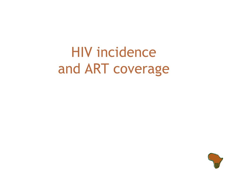 HIV incidence and ART coverage
