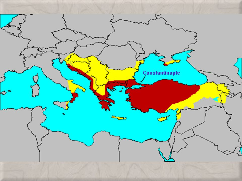 BYZANTINE EMPIRE HEIR TO ROME Located In Constantinople On The - Ancient rome map byzantium