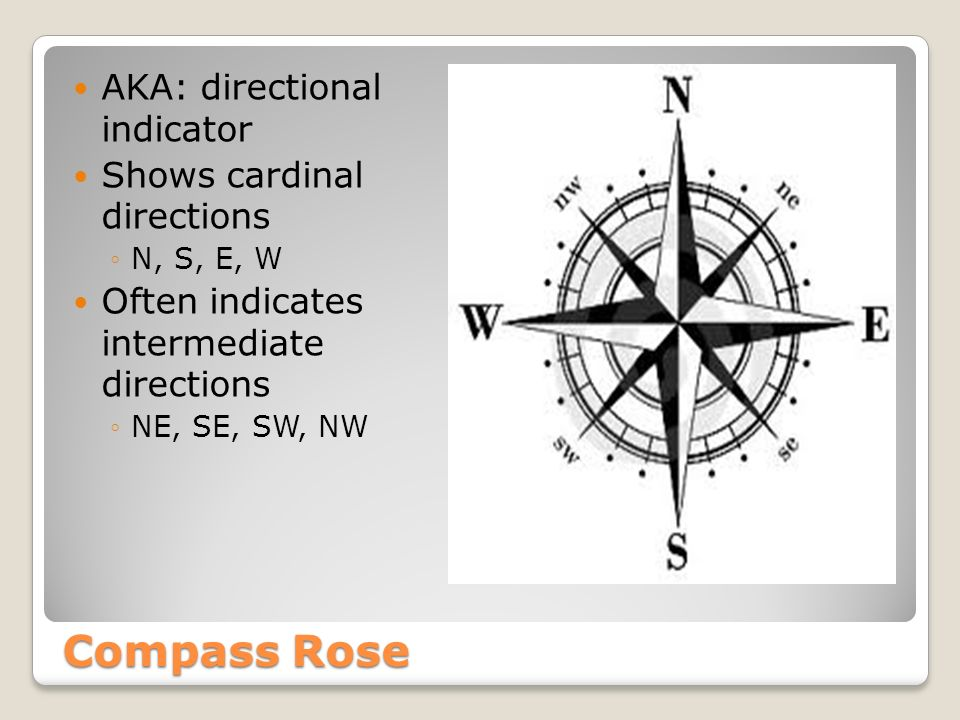 Welcome to world geography using maps basic map components 3 compass rose aka directional indicator shows cardinal directions n s e w often indicates intermediate directions ne se sw nw gumiabroncs Images