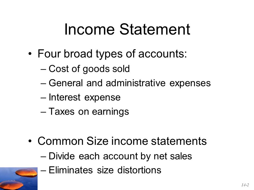 Chapter 14 Financial Statement Analysis Income Statement Four