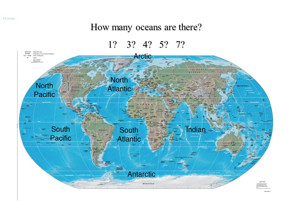 How Many Oceans Are There Oceans Ppt Download - 7 oceans of the world map