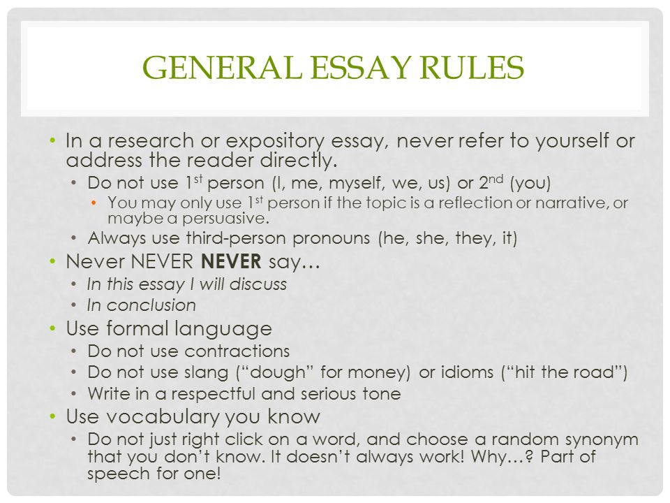 essay rules writing This college resource is an ultimate solution to your academic writing problems find the best essay and research paper writing guides here.