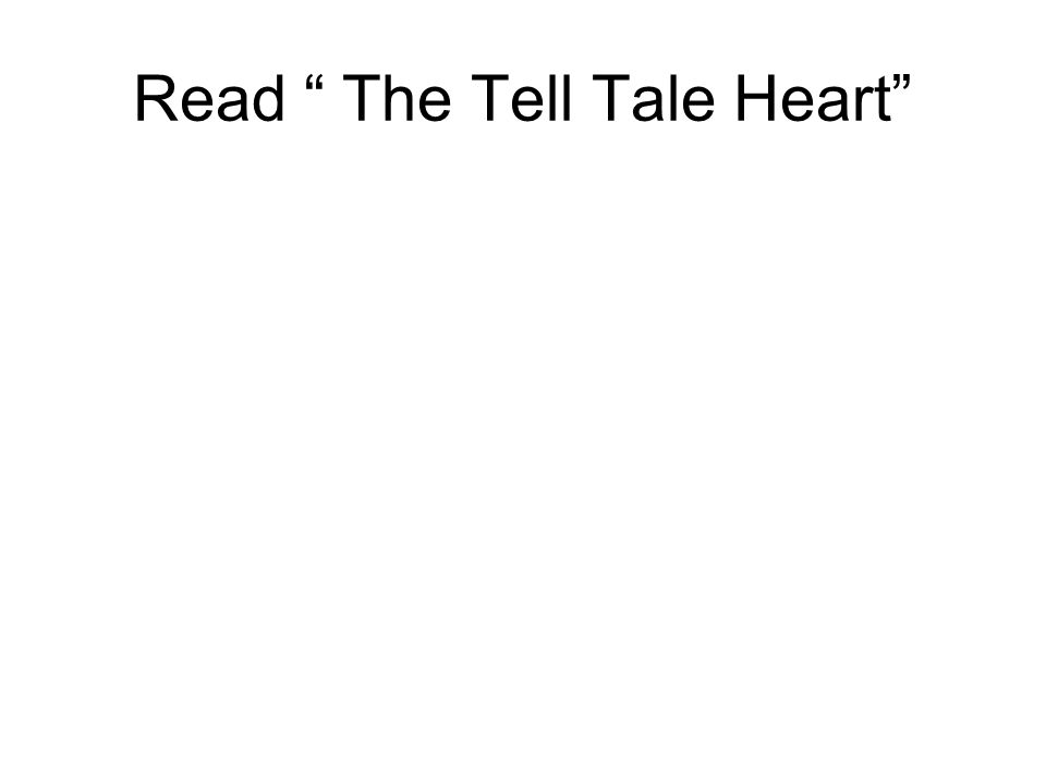 an analysis of the tell tale heart by edgar allan poe Commentary and archival information about edgar allan poe from surrealistic, often macabre tales, such as the tell-tale heart, the fall of the house of.