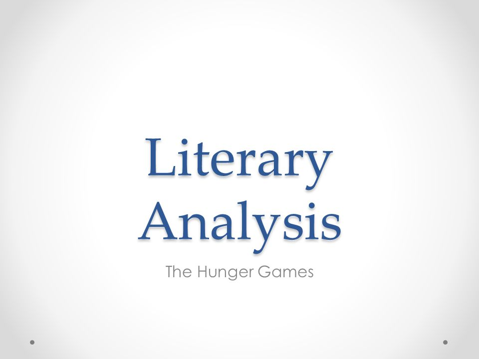 Hunger Games english essay?