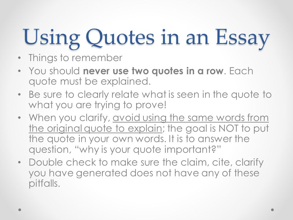 How do we write a quote in an essay - How to, put a
