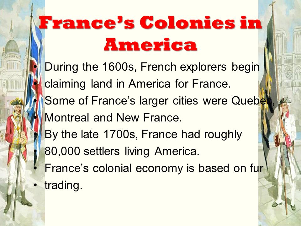 the colonies of the late 1600s and the early 1700s The colonial history of the united states covers the history of european settlements from the start of colonization in the early 16th century until their incorporation into the united states of americain the late 16th century, england, france, spain, and the netherlands launched major colonization programs in eastern north america small early.