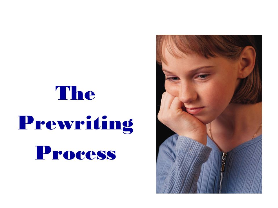The Prewriting Process