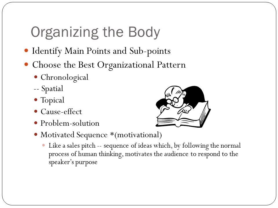 How Do You Present An Essay Using Chronological Organization Top 40 Custom Spatial Organizational Pattern