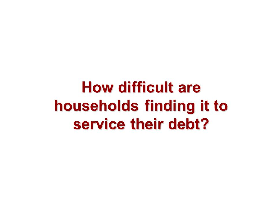 How difficult are households finding it to service their debt