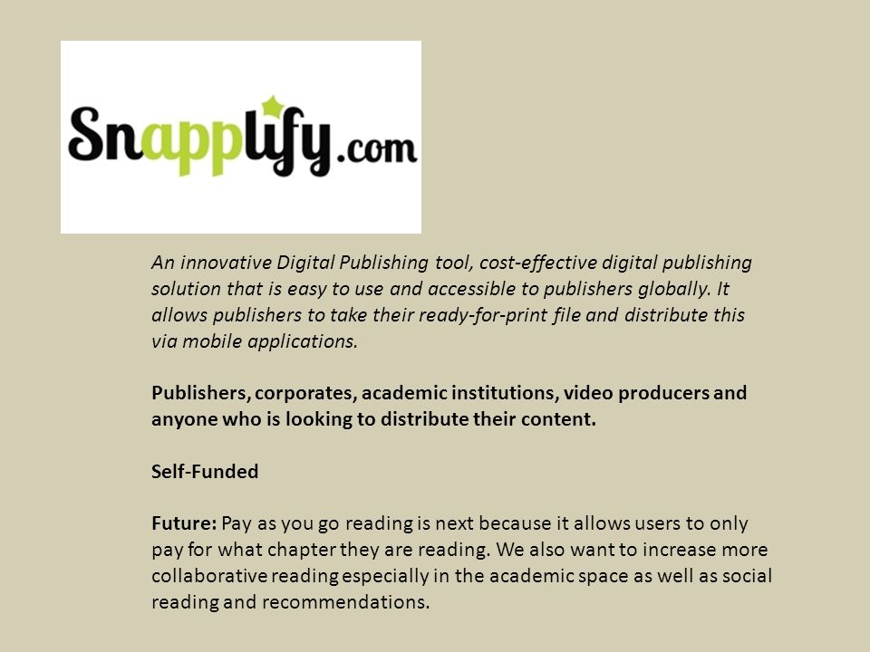 An innovative Digital Publishing tool, cost-effective digital publishing solution that is easy to use and accessible to publishers globally.