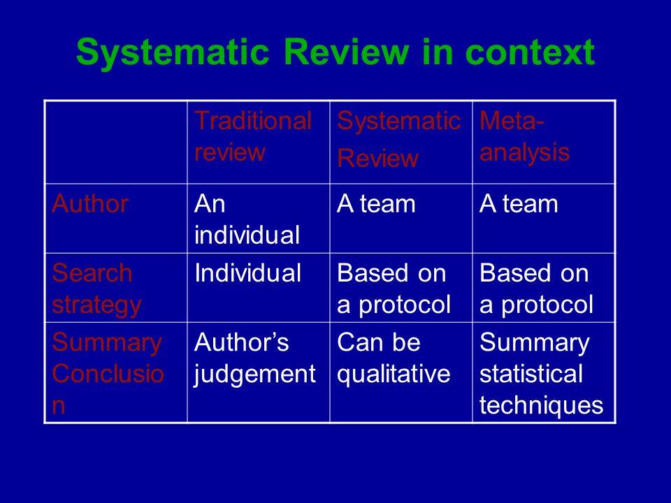 critical review of meta analysis