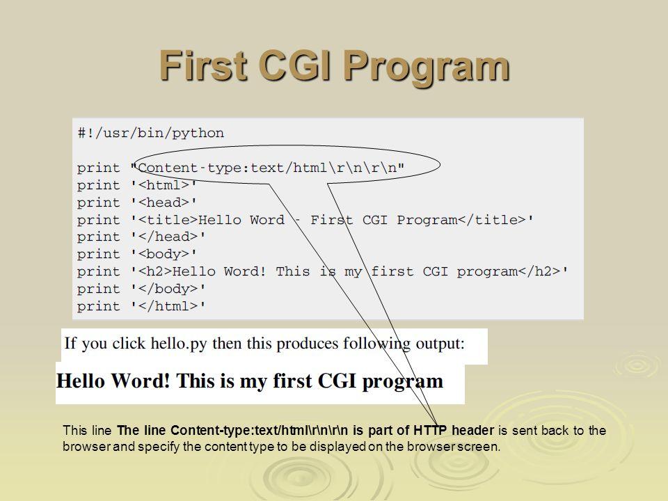 Python CGI programming - ppt download