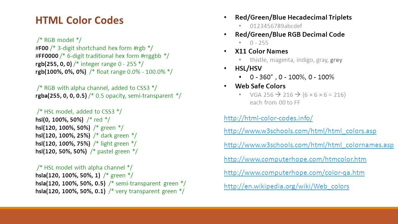 Web colors w3schools - 2 Html