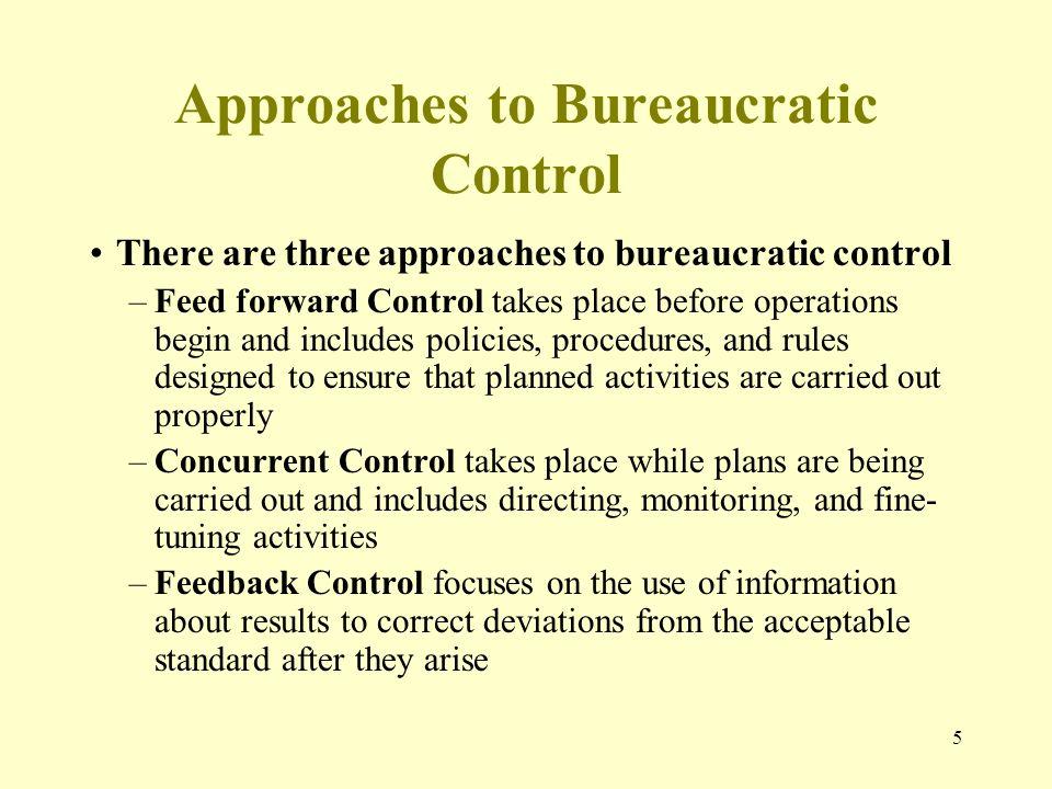 feedforward concurrent and feedback controls