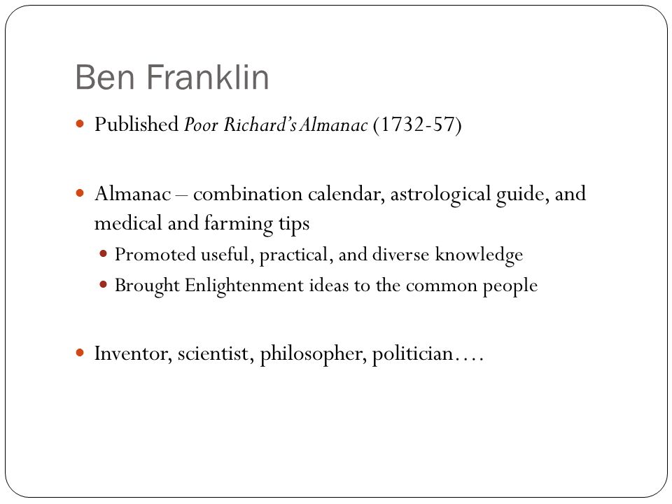 HELP! Sinners in the Hands of an Angry God vs. The autobiography of Benjamin Franklin?
