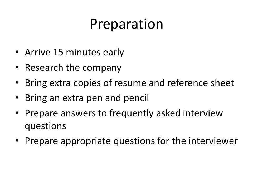 Copies of resume