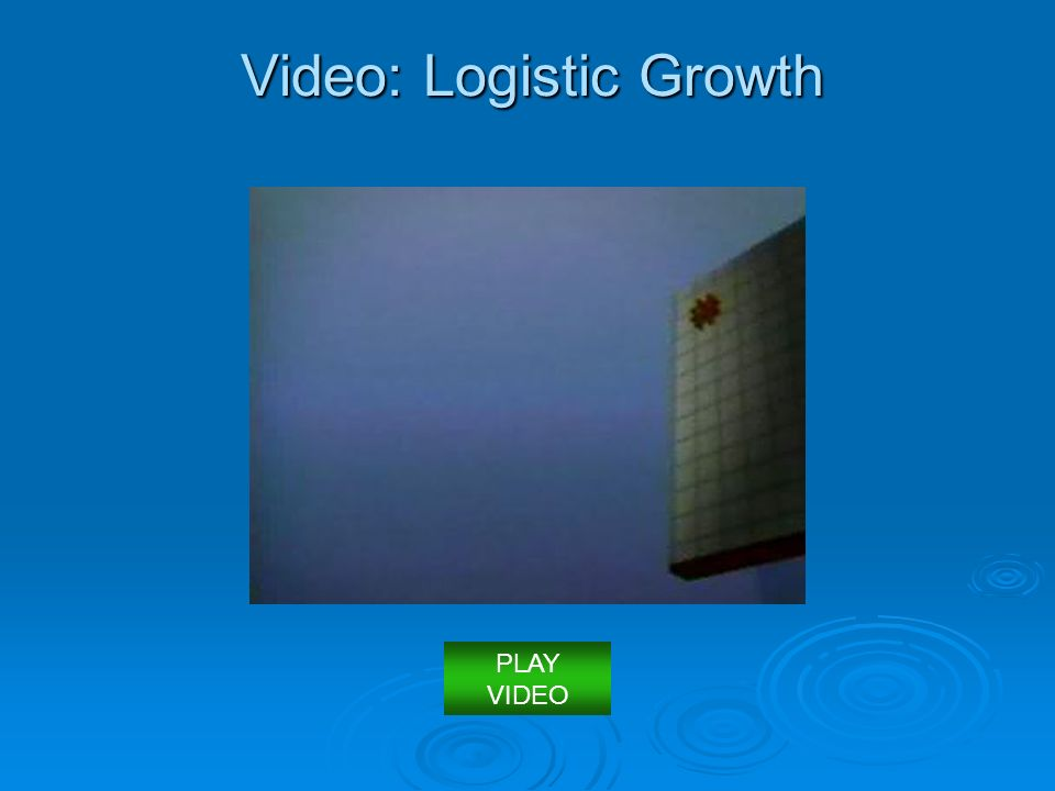 Video: Logistic Growth PLAY VIDEO