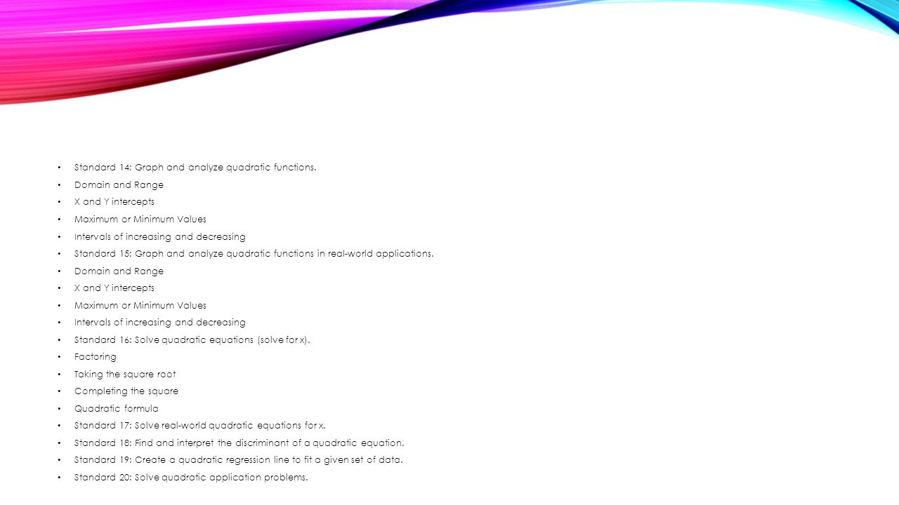 Algebra 2 Unit 3 Review Quadratic Equations And Their Applications  Quadratic Equation Domain And Range Talkchannels