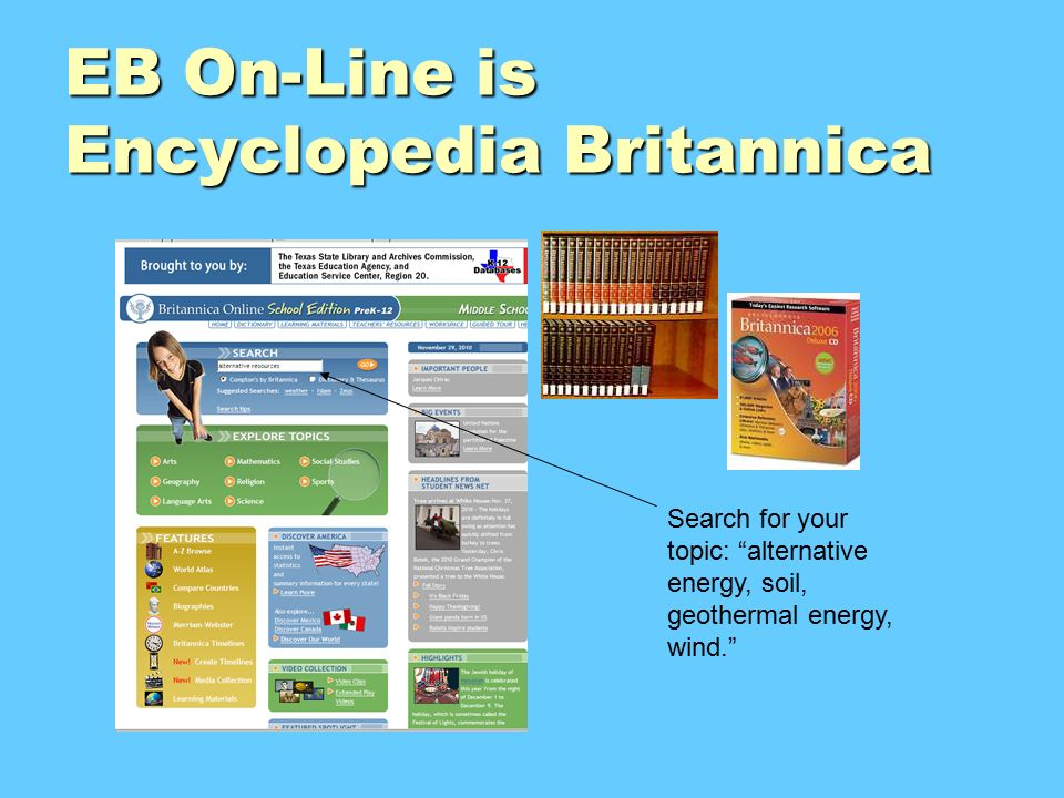 "power up research sources of energy renewable non renewable and  9 eb on line is encyclopedia britannica search for your topic ""alternative energy"