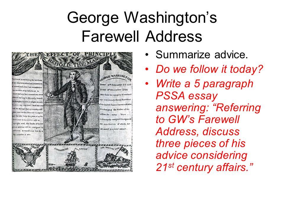 george washingtons farewell address
