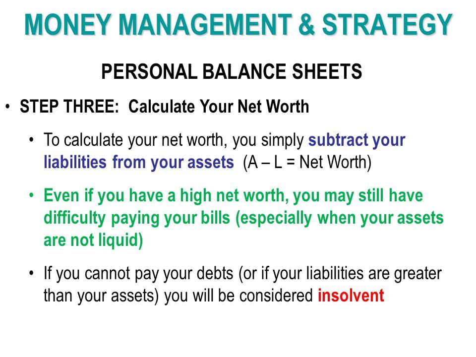 how to calculate liquid net worth
