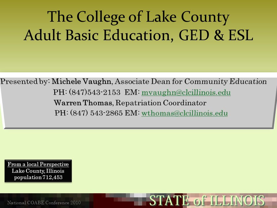 education Adult illinois in basic