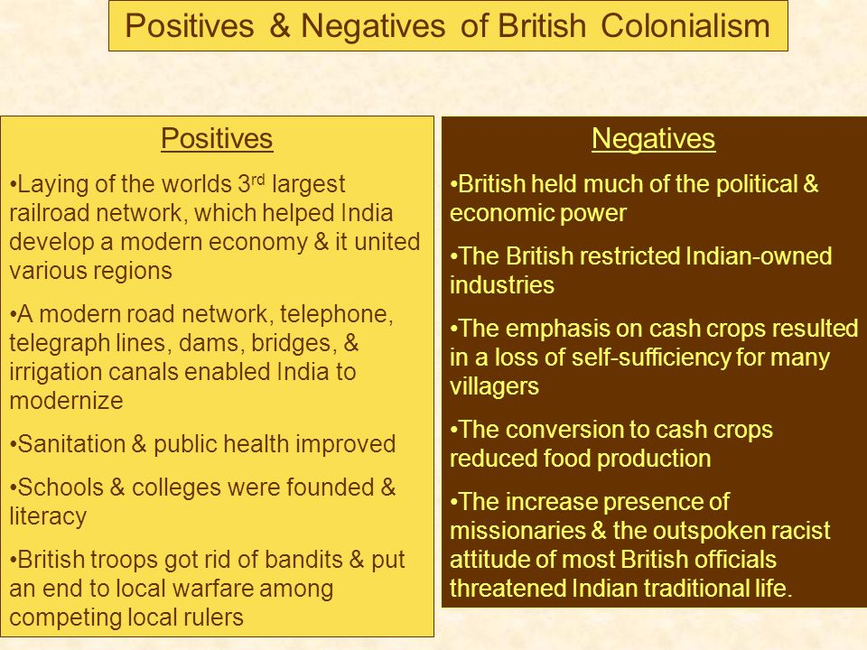 What are the major pros and cons of colonization?