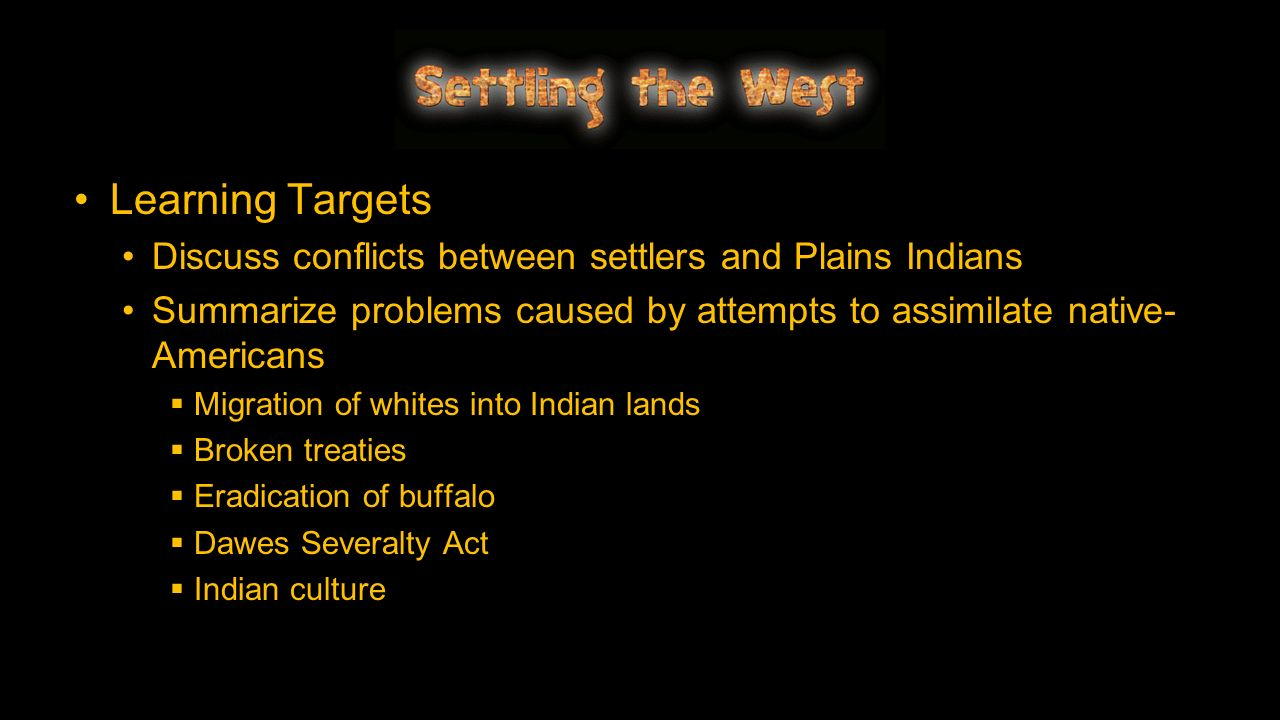 conflicts between new settlers and the The american indian wars as the population of white settlers on the continent continued to increase, the size, duration, and intensity of armed conflicts between.