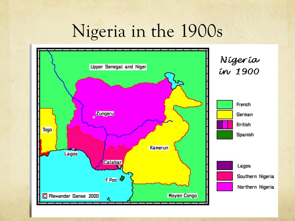 Nigeria in the 1900s