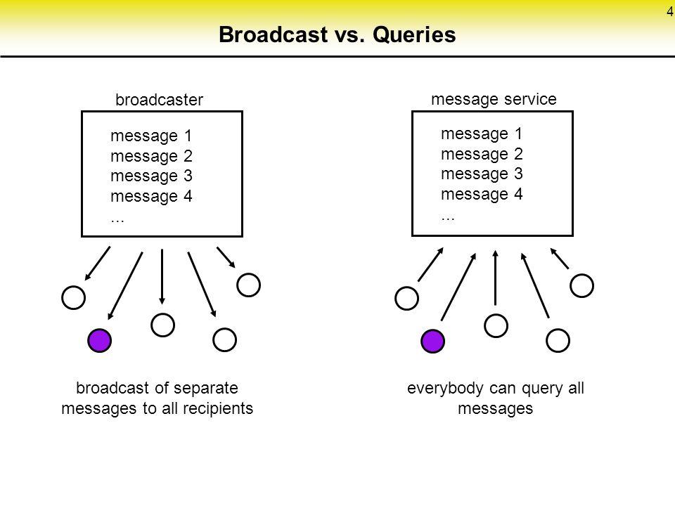 4 Broadcast vs.