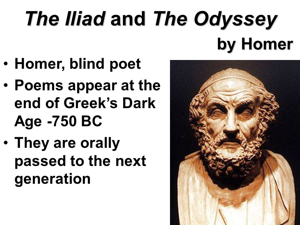 """a summary of the odyssey an ancient greek epic poem by homer """"odyssey"""" is the second (after the """"iliad"""") greek epic poem, written by the ancient greek poet homer it was written in the 8th century."""