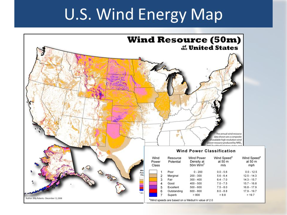 The Answer Is Blowing In The Wind The Power Of Wind Ppt Download - Us wind energy map